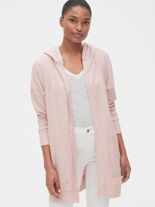 Gap Softspun Longline Hooded Cardigan