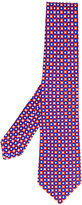 Kiton geometric print tie - men - Cotton - One Size
