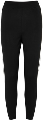 Stella McCartney Monochrome Striped Stretch-knit Sweatpants