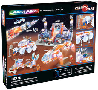 Laser Pegs Mission Mars Rover 200 Piece Lighted Construction Block Set