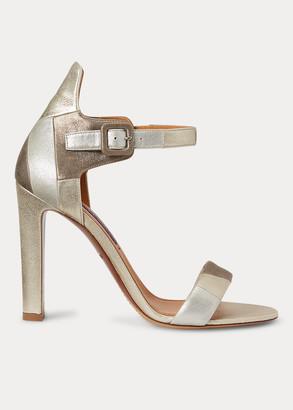 Ralph Lauren Darbi Goat-Suede Sandal
