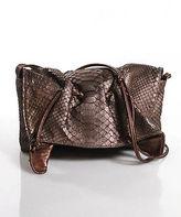 Carlos Falchi Brown Snakeskin Shoulder Handbag