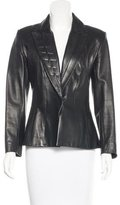 Thierry Mugler Embellished Leather Blazer