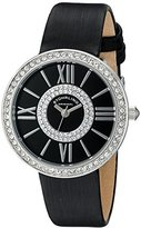 Stuhrling Original Women's Quartz Watch with Black Dial Analogue Display and Black Leather Strap 566.02