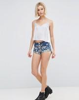 Glamorous Embroidered Denim Shorts