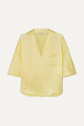 Vince Silk-satin Shirt - Yellow