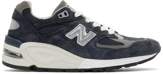 New Balance Navy Made In US 990v2 Sneakers