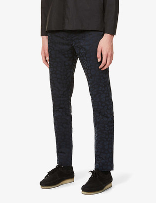 Wax London Alston straight-leg stretch-cotton trousers