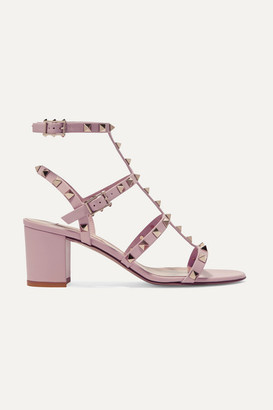 Valentino Garavani The Rockstud 60 Leather Sandals - Antique rose
