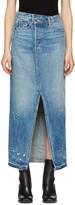 Helmut Lang Blue Denim Reconstructed Skirt