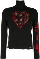 Philipp Plein 'Love Me' turtleneck sweater - women - Polyester/Viscose - M