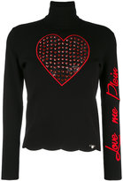 Philipp Plein 'Love Me' turtleneck sweater - women - Viscose/Polyester - S