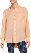 Free People That's A Wrap Oversized Oxford Shirt