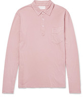 Officine Generale Slim-fit Garment-dyed Cotton-jersey Polo Shirt - Pink