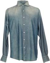 Finamore 1925 Denim shirts - Item 42627172