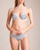 Roberto Cavalli Zebra Strass Push-Up Bikini