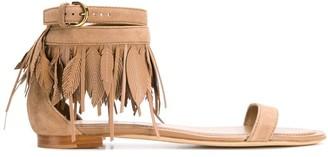 Tod's Fringe Ankle Sandals