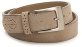 Stacy Adams Suede Wingtip Belt