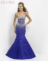 Blush Lingerie Strapless Embellished Mermaid Gown 9713