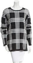 Burberry Check Pattern Crew Neck Sweater