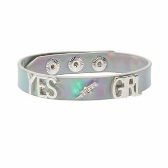 BCBGeneration BCBG Generation Women's Yes Girl Metallic Leather-Look Snap Bracelet