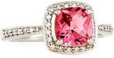 Jude Frances 18k White Gold Pink Tourmaline & Diamond Ring, Size 6.5