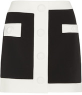 Moschino Two-tone Crepe Mini Skirt - Black