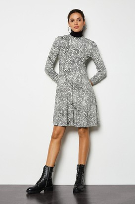 Karen Millen Printed Mini Flared Dress