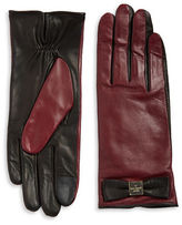 Kate Spade Colorblock Leather Tech-Friendly Gloves