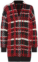 Rag & Bone Dawson Checked Merino Wool-blend Cardigan - Red