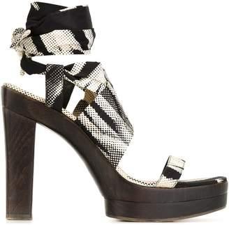 Hermes Pre-Owned Digital Print Sandals