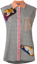 Christopher Kane gingham shirt - women - Cotton/Nylon/Polyester - 38