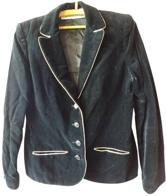 Jean Louis Scherrer Jean-louis Scherrer Black Velvet Jacket for Women Vintage
