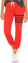 Sundry Stripes Sweatpants in Red. - size 0 / XS (also in 1 / S,2 / M,3 / L)