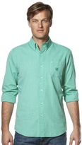 Chaps Men's Classic-Fit Solid Poplin End-On -End Easy-Care Button-Down Shirt