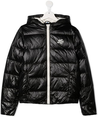 Fay Kids TEEN quilted hooded jacket