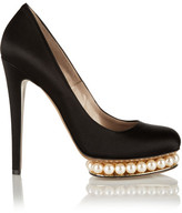 Nicholas Kirkwood Embellished Satin Pumps - Black