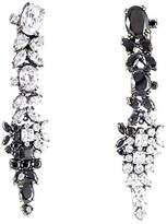 Iosselliani Combination of Crystal and Black Zircons Clip Earrings