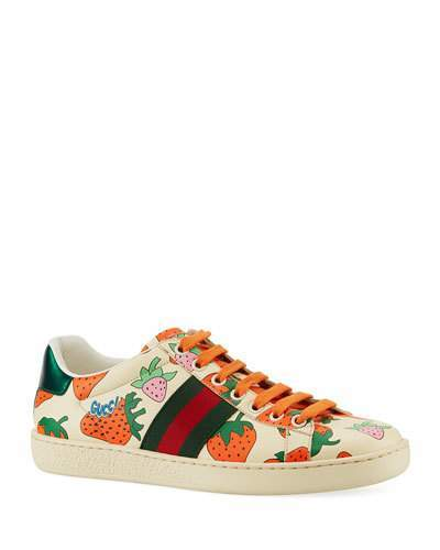 046e86313 Gucci Ace Leather Sneakers - ShopStyle