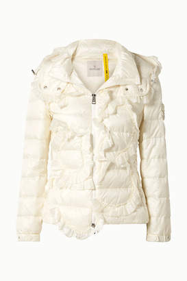 Simone Rocha Moncler Genius - 4 Embellished Ruffled Quilted Shell Down Jacket - Cream