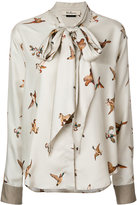 Mulberry bird print blouse