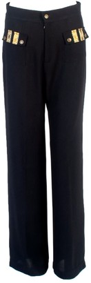 Relax Baby Be Cool Straight Cut Loose Wool Trousers With Front Pockets Black