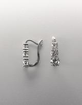 Crislu Cubic Zirconia Three Stone Drop Earrings