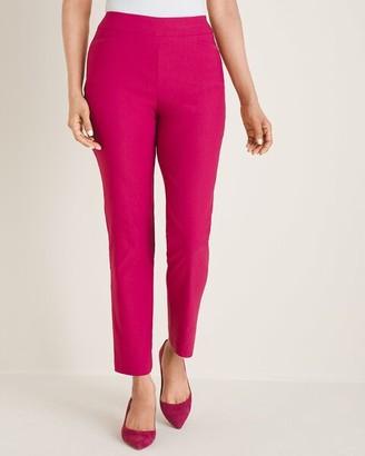 So Slimming Brigitte Back-Slit Slim Ankle Pants