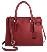 Women's Faux Leather Belted Tote with Crossbody Strap - Merona
