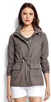 Lands' End Women's Military Jacket-Deep Walnut