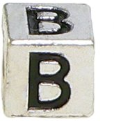 "Olympia Block Letter ""B"" Alphabet Charm - Major Brand Name Bracelet Compatible"