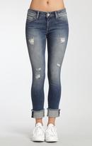 Mavi Jeans Erica Cuffed Skinny In Indigo Ripped Vintage