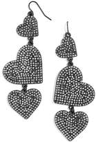 BaubleBar Women's Serenity Pave Drop Earrings