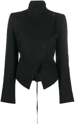 Ann Demeulemeester Fitted Off-Centre Jacket